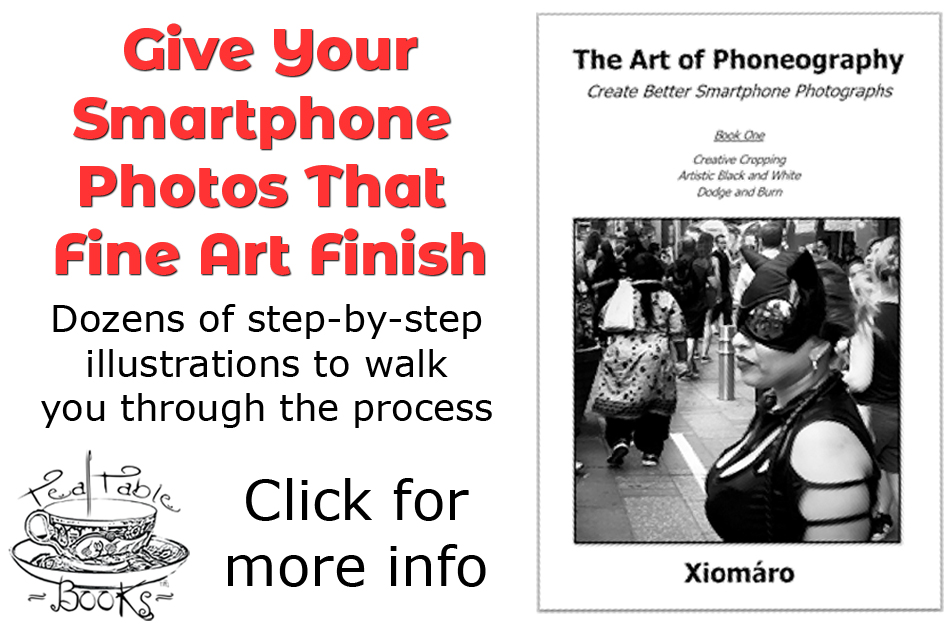"Buy my booklet, ""The Art of Phoneography - Book One"" (Tea Table Books)"