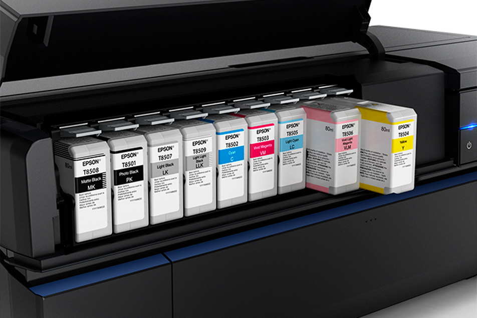 Nine-color set of Epson UltraChrome HD archival pigment ink cartridges
